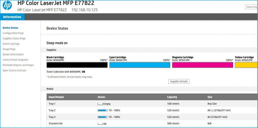 Acceso remoto EWS a impresoras de HP