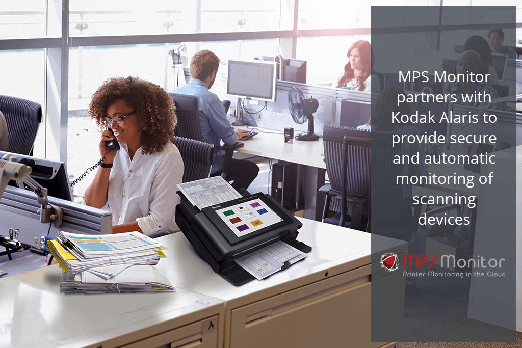 MPS Monitor 2.0 se asocia con Kodak Alaris para suministrar una supervisión segura y automática de los dispositivos de escaneo