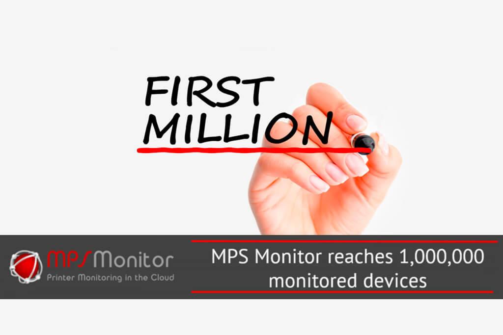 Un millón de dispositivos de impresión supervisados ahora por MPS Monitor